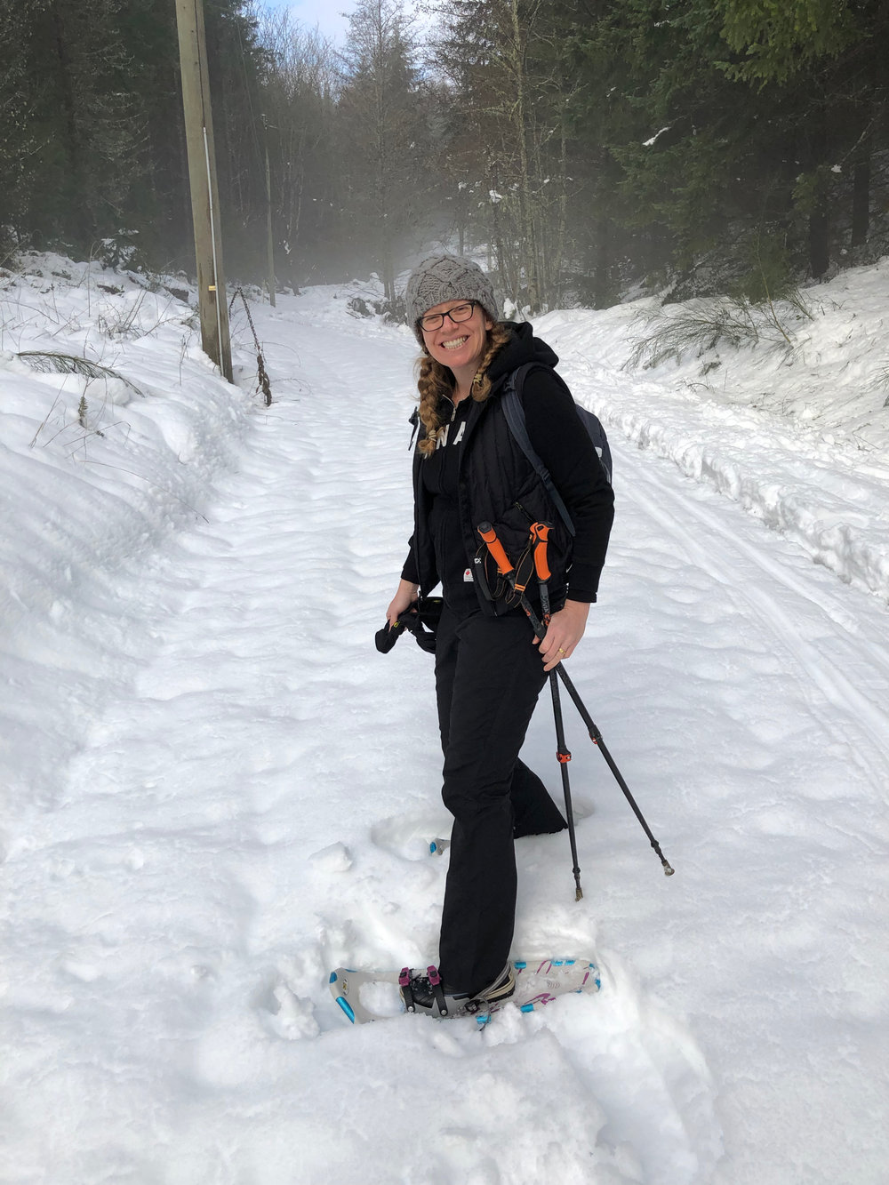 It was the first time in a couple of years that we've pulled out the snowshoes.
