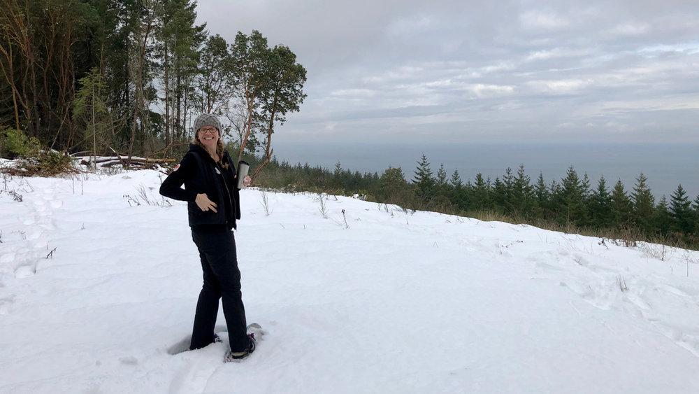 Justine enjoying the view.