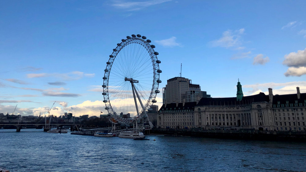 We walked across the bridge over the Thames and wandered over to my old stomping grounds, near the London Eye and Waterloo Station.