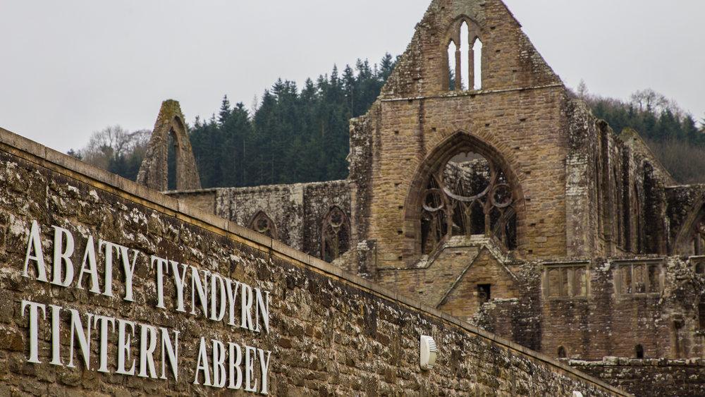 The entrance to Tintern Abbey