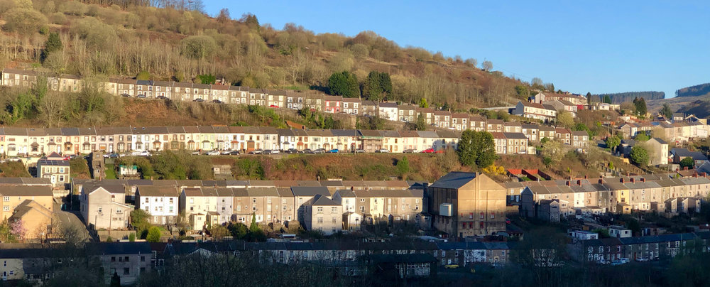 The valley is very narrow, with minimal space at the bottom of the valley floor. So they built these amazing row houses on steep streets. This is the view across the valley from Julie's house. More on the row houses later.