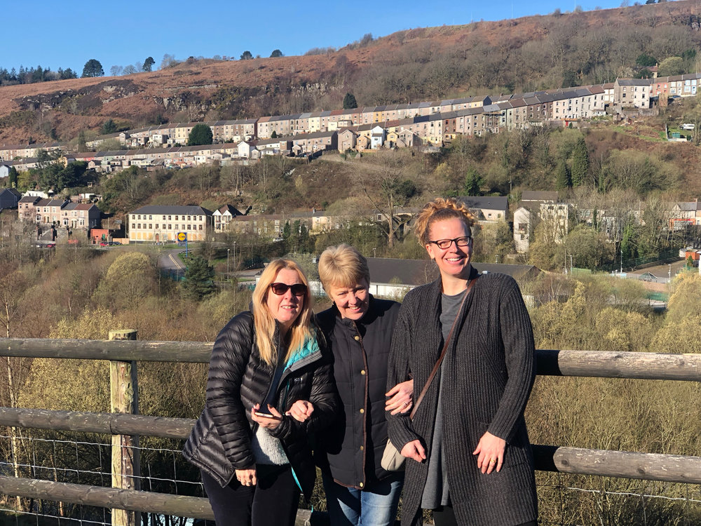The sun finally came out on our last day - Heidi, Julie and Justine.
