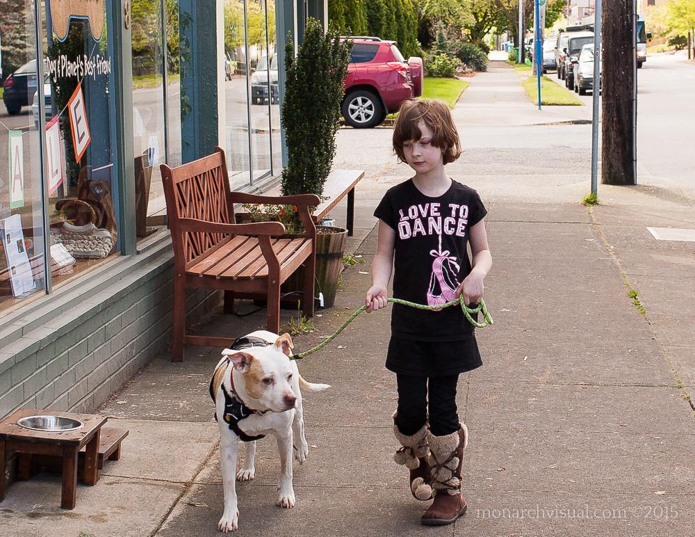 Mara going for a walk