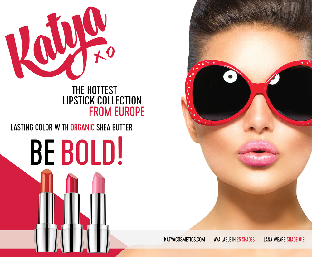 Conceptual makeup advertisement