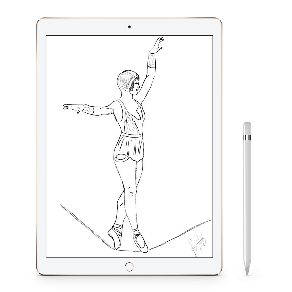 Ipad Pro & Apple Pencil - For sketching on the go, lettering, pattern making, and digital painting