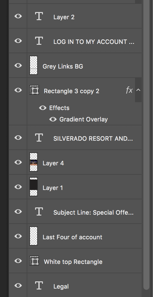 See all these unnamed and ungrouped layers? Don't do this.