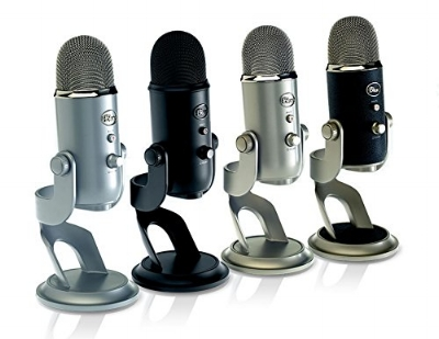 Blue Yeti USB Microphone - I use this for all of my voice work - recording podcasts, business video chats, and recording sound clips.