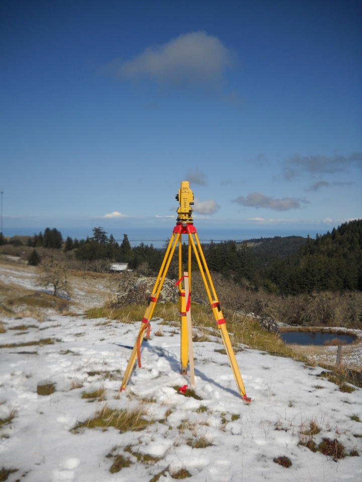 Surveying in the snow