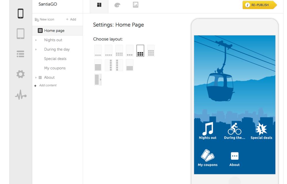 Gestión de contenidos para iPhone, Android y Ipad.