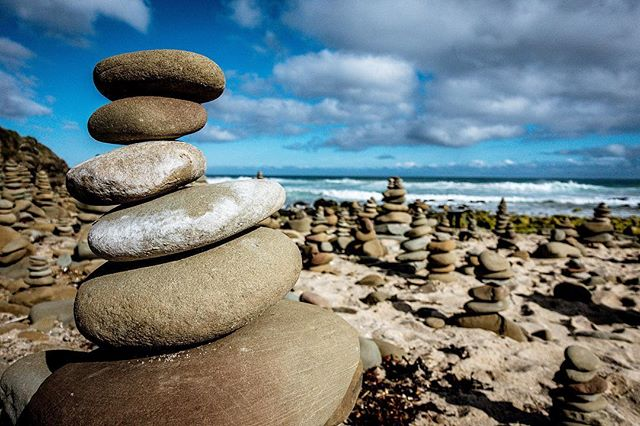 Wherever adventure is found, stone cairns seem to follow 🏜 . . Great Ocean Road, Victoria, Australia, 2015 . . #cairns #cairnrocks #coast #victoria #australia #travelblogger #photographer #sundayfunday #sundayvibes #natgeoyourshot #natgeotravel #landscapephotography #beach #ocean #australiandesign #travelpic  #igphoto #rocks #stones