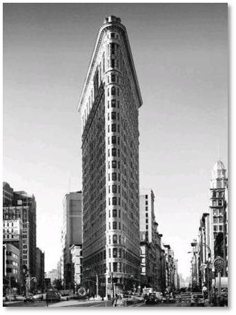 The Flat Iron Building in NYC and the home of St. Martin's Press