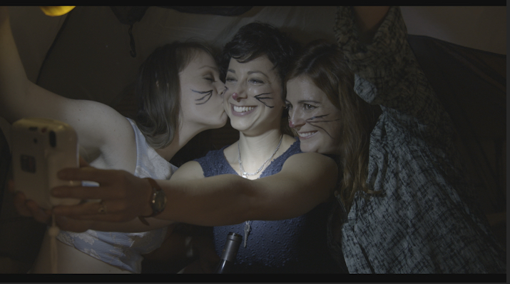 Still from ALL I WANT with Giselle Gilbert, Melissa Center, and Sue-Kate Heaney