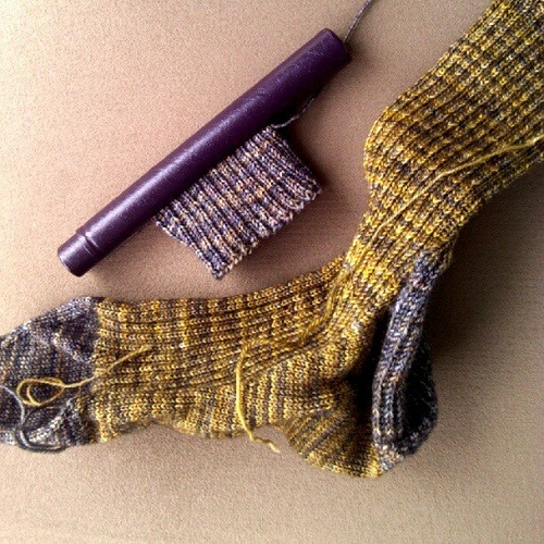 Sock Recipe: A Good, Plain Sock by Stephanie Pearl-McPhee, knit with Malabrigo Sock in colorways Turner and Playa