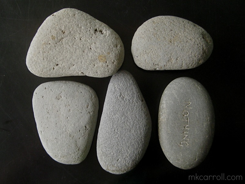 Beach stones, ready to cover with crochet