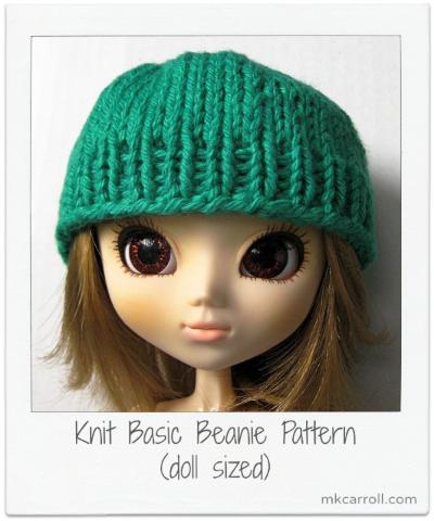 Knitting Pattern For Dolls Beanie : Doll Beanie (Knit)   MK Carroll
