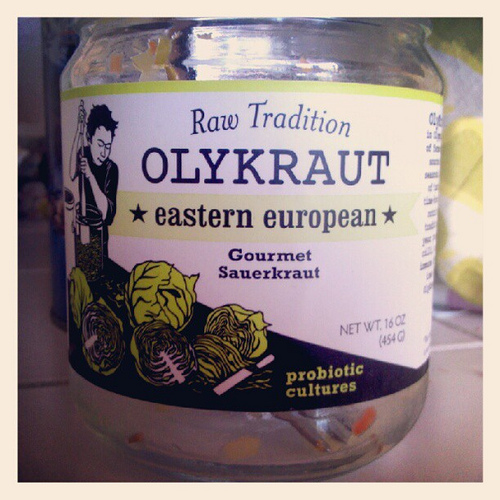 After a week of travel, I was really craving some live culture sauerkraut. I ate the entire jar of  Olykraut  within 24 hours.