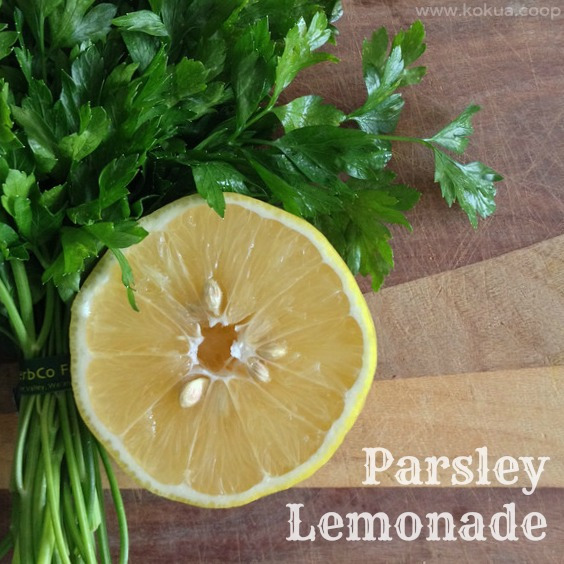 parsley-lemonade.kokua-coop