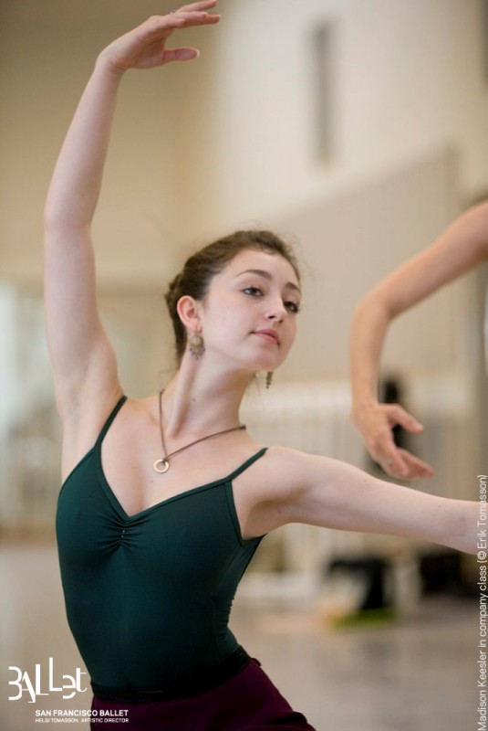 Madison photographed in the SF Ballet studio