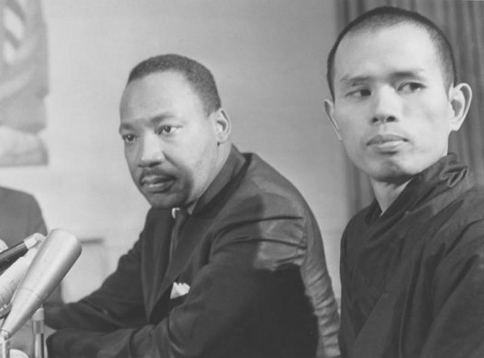 Zen monk Thich Nhat Hanh pictured with Martin Luther King