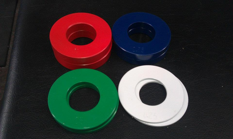 Fractional plates ranging from 0.25-1kg