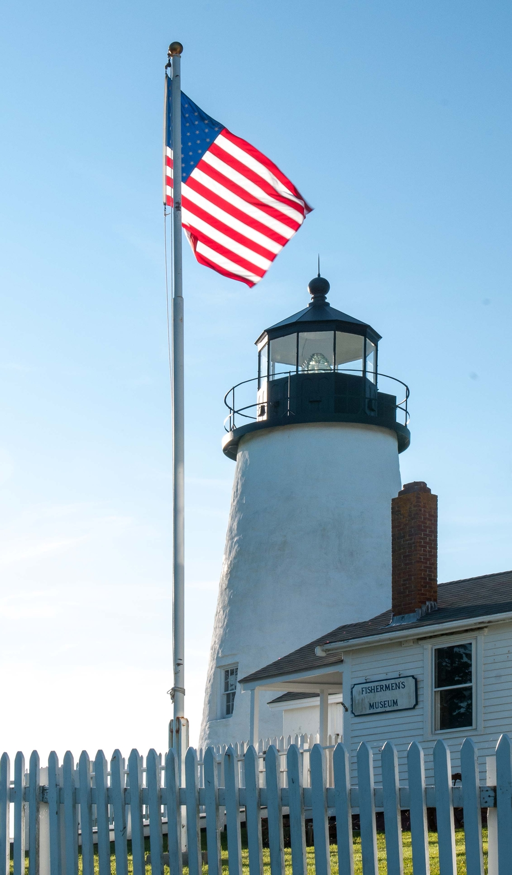 Lighthouse with Flag