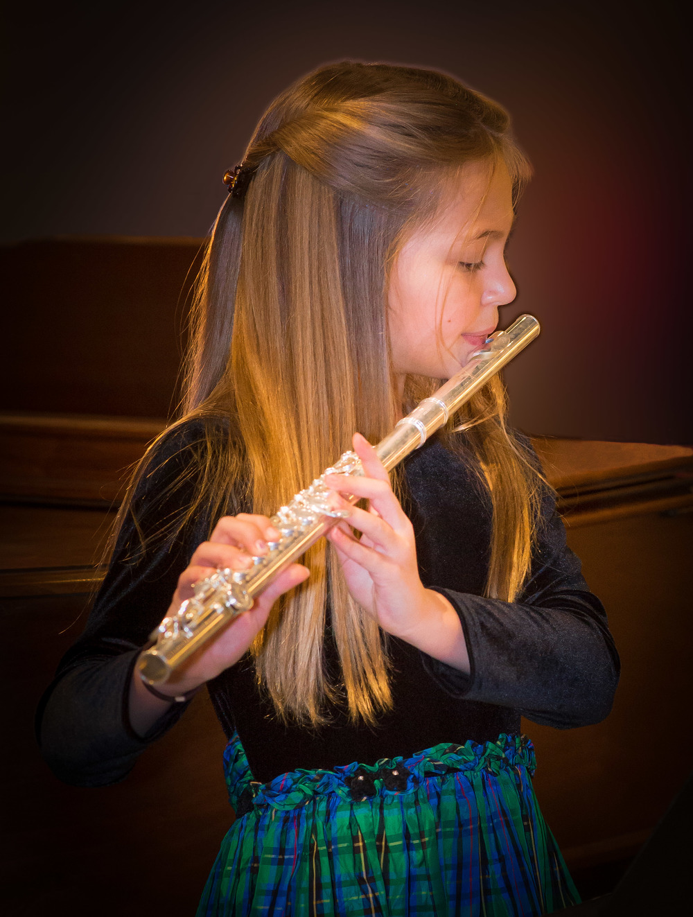 Student on Flute