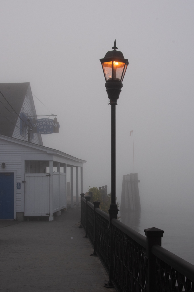 Fog on the Wolfeboro Docks
