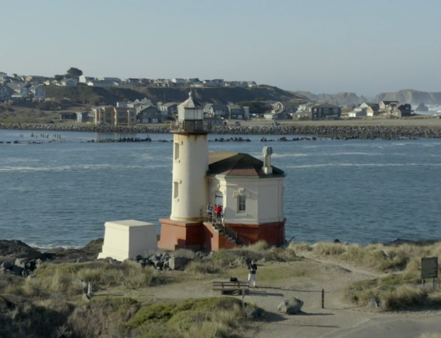 Coquille River Lighthouse in Oregon