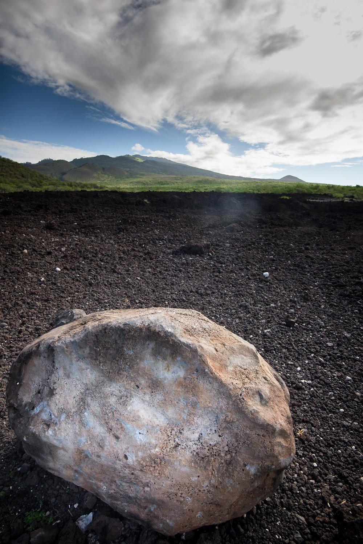 Stone on Lava