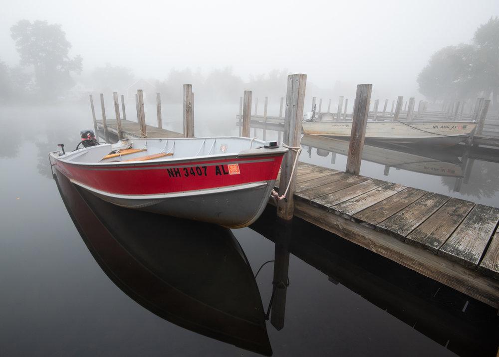 Boat Dock in Fog