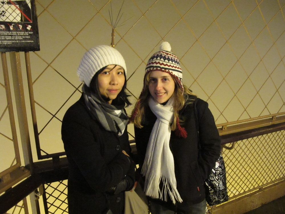 Paris - we went to the top of the eiffel tower!