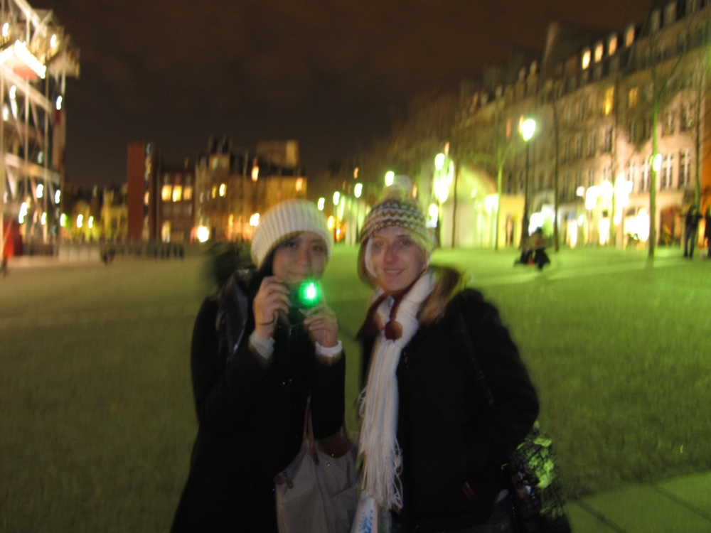 Paris night Pompidou