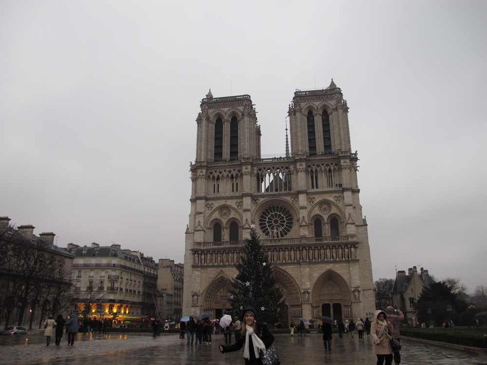 Visit to Notre Dame. Rainy!