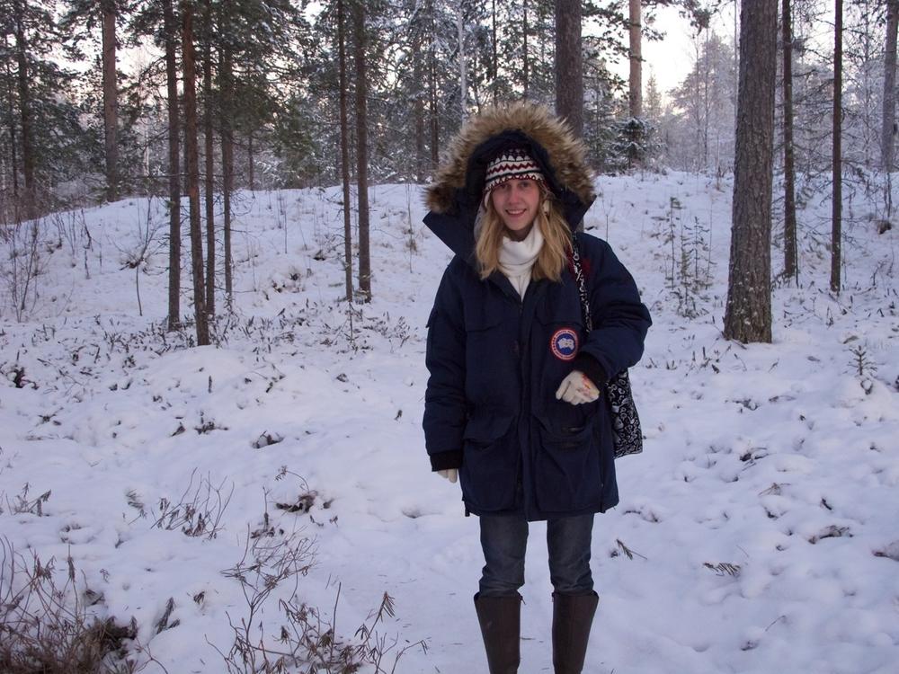 chrissy is in snowy Piteå!