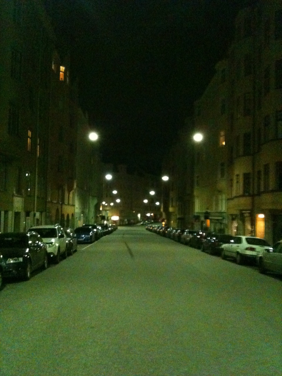 Surreal late night walk in Stockholm