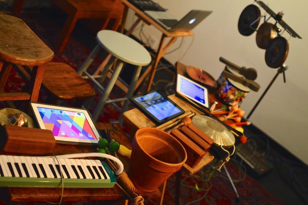 iPad and mini-percussion setups