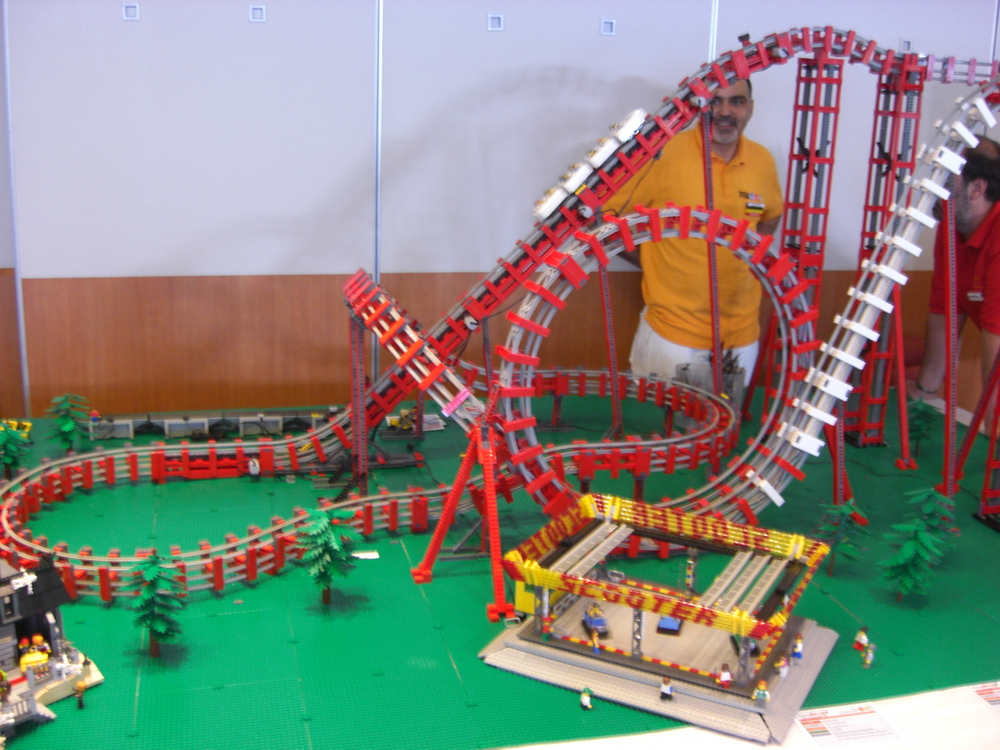 Working roller coaster