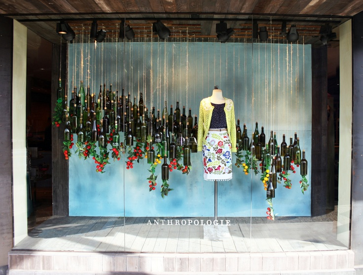 Anthropologie  Vancouver, Earth Day window installation