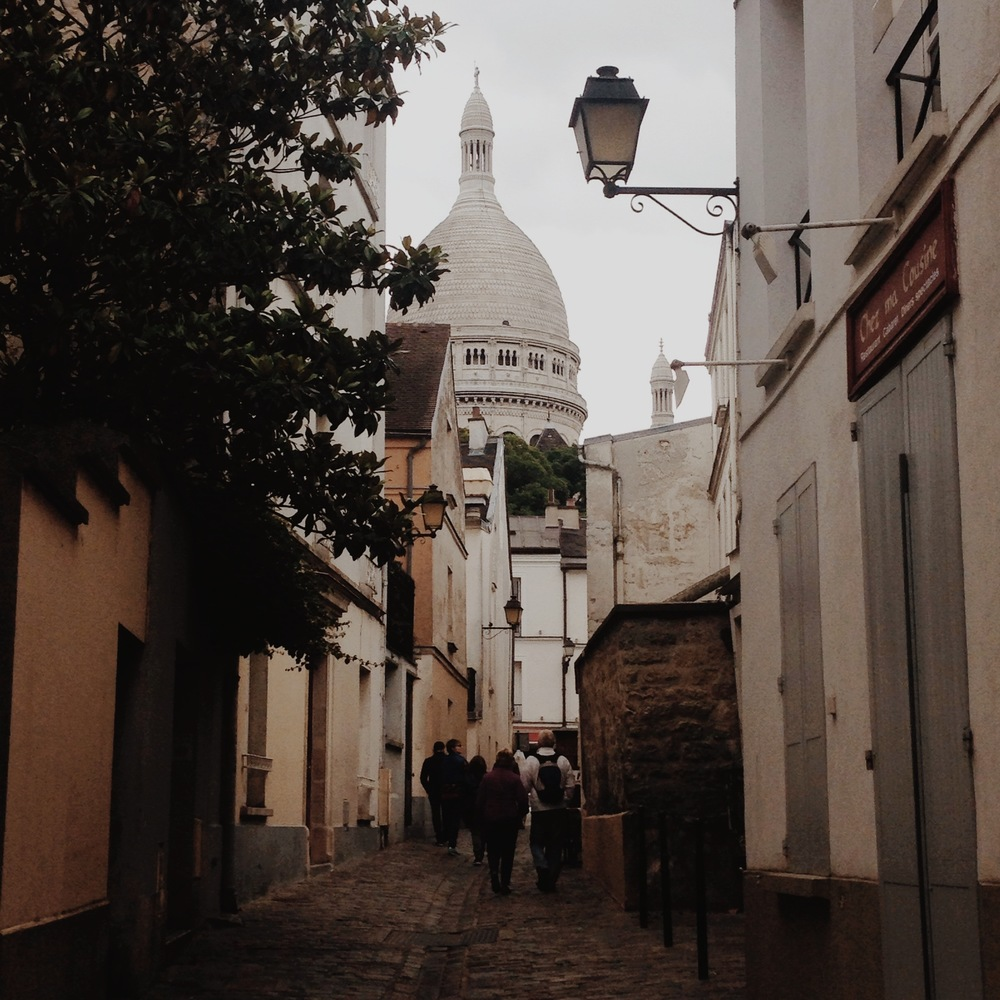 A view from the ninth up to the Sacre Coeur, photo by  Ms Amy Farrell