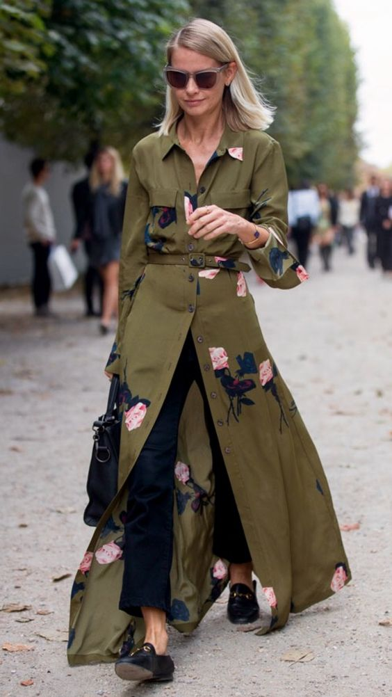 GANNI  at Paris Fashion week, via The Zoe Report