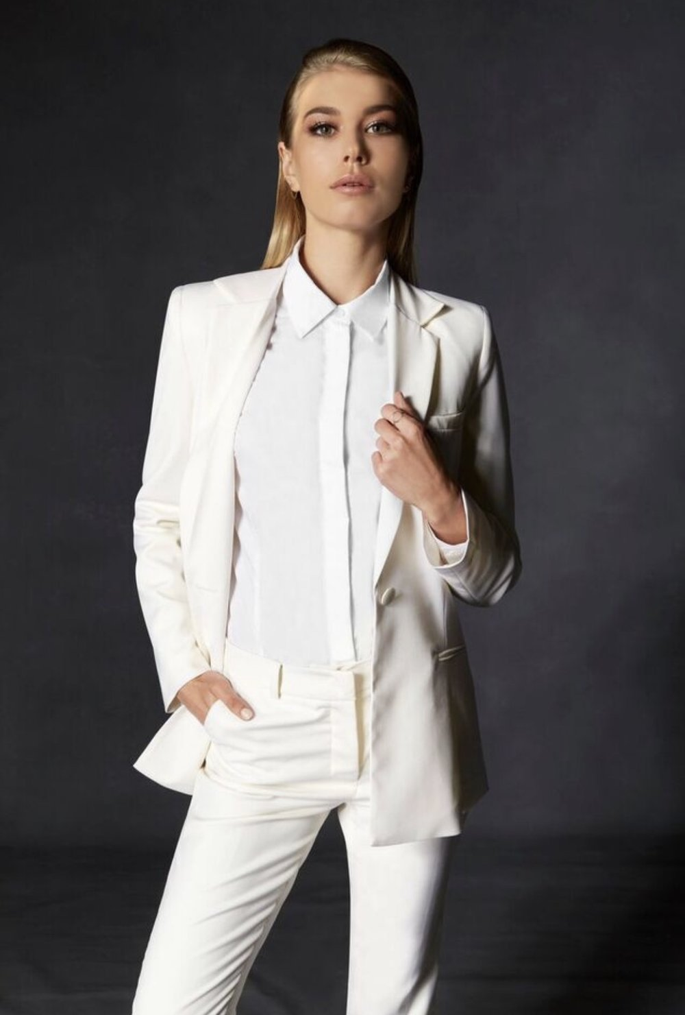 The Aurum Collective Travel Suit, ivory