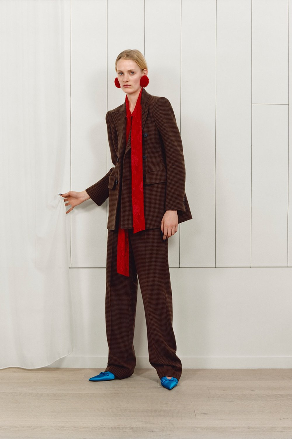 Trends: Scarlet + Sable Brown - Balenciaga Pre-Fall 2017,  via The Business Of Fashion