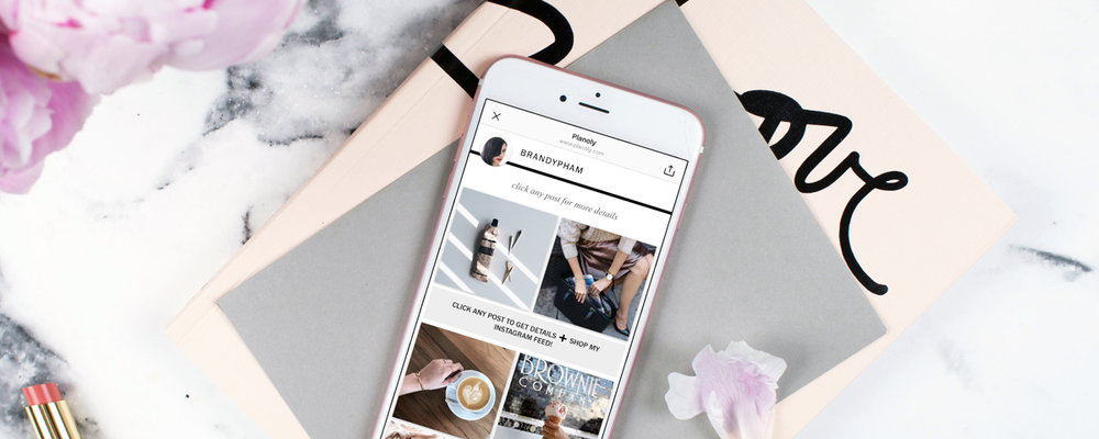 Want to create a shoppable Instagram feed?  Image via Planoly