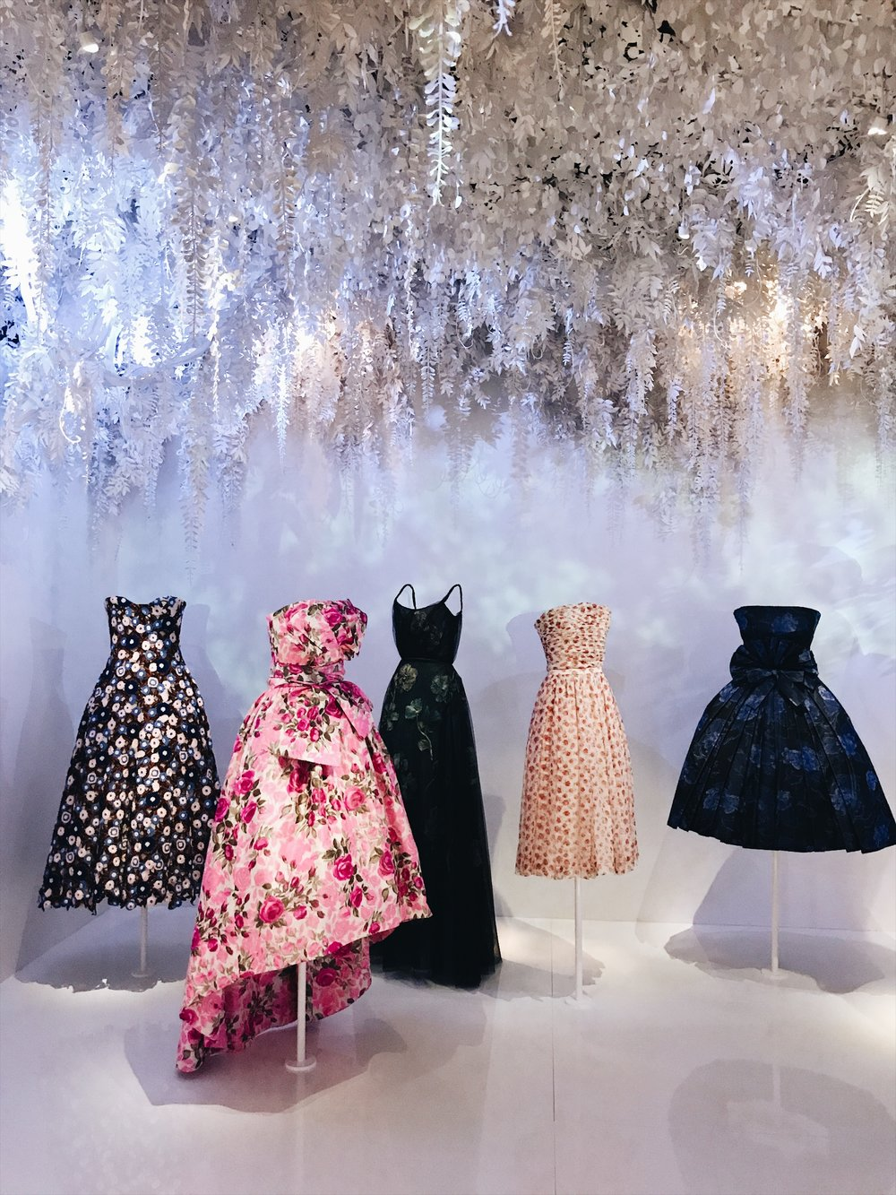 The Dior Gardens, a highlight of the exhibition
