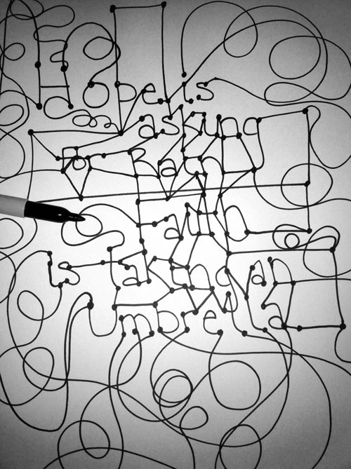 Danielle's doodle goes wild