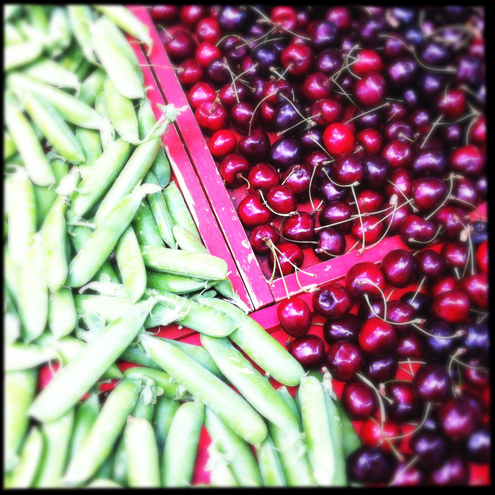 iPhone photo: cherries & sugar peas