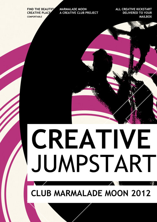 The Creative Jumpstart Project. iPhoneographic design created on an iPhone by Kate England.