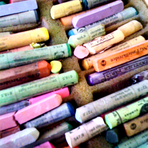 iPhone photo: Box of pastel crayons