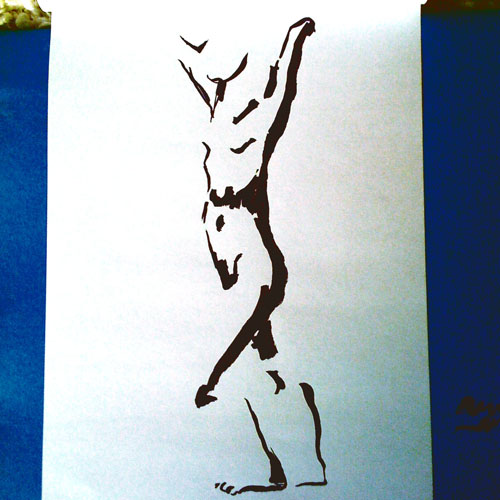 Life drawing with ink