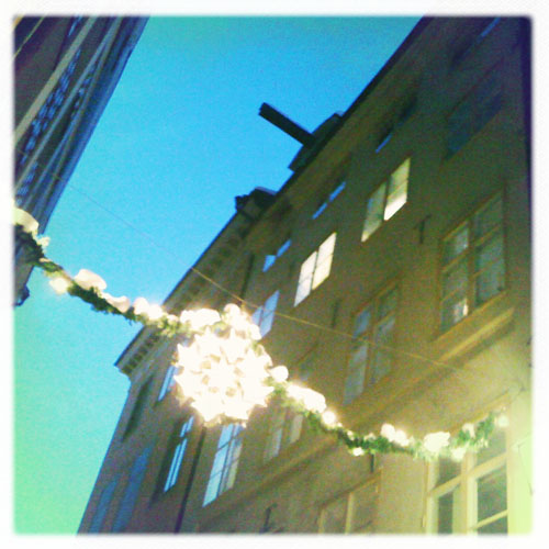 iPhone photography: Christmas street decorations on Köpmangatan
